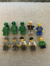 Lot of 10 Original Lego Figures Includes Prisoners