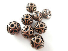 20 Antique Coppper Plated Filigree Disc Beads Findings 66090