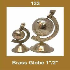 Vintage Brass 2'' Globe Nautical Home Office Decor Collectables ECs