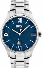 New Hugo Boss Men's Governor Stainless Steel Blue Silver Watch HB1513487