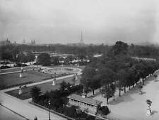 OLD PHOTO FRANCE Paris Panorama Of The Tuileries Gardens