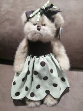 "Bearington Collection Bear #179905 Bibi 11"" Stuffed Plush Polka Dress With Tags"