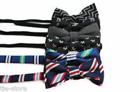 BOYS KIDS PRE-TIED COTTON PATTERN BOW TIE PARTY WEDDING BOWTIE - MANY DESIGNS