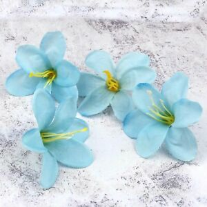 50/100 Pcs Artificial Fake Mini Lily Silk Flower Heads Wedding Party Home Decor