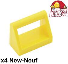 Lego - 4x Tile Modified 1x2 dossier poignée handle jaune/yellow 2432 NEW