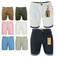 Mens Designer Tailored Cotton Shorts by Brave Soul Chino Summer Shorts S-XL