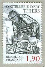 FRENCH POSTAGE -  COUTELLERIE D'ART THIERS STAMP 1,90 POSTES 1989 FRANCE