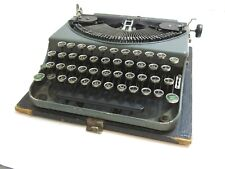 VINTAGE 1930'S REMINGTON NO 2 GRAY PORTABLE TYPEWRITER WITH CASE WORKS n5