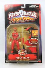 Bandai Power Rangers Ninja Flash RED WIND RANGER Action Figure MMPR
