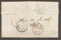 1825 Lettre MARQUE déboursé DEB. 66 BEFFORT HAUT-RHIN(66) X1617