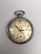 Vintage Pocket Watch Axod Man's Fab. Suisse Very Rare #5224 Old Retro