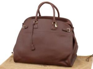 Hermes Havane Brown Clemence Leather Atlas Travel 50cm 236375