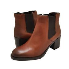 Para mujeres Zapatos Clarks Mascarpone Bahía De Cuero Chelsea Botas 35270 tan * Nuevo *