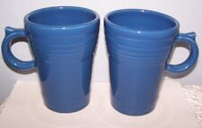 NEW SET OF 2 FIESTAWARE LAPIS BLUE LARGE LATTE / COFFEE MUG  FIESTA MUGS