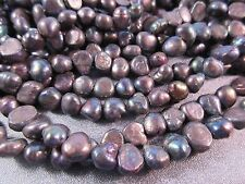 Freshwater Black Peacock Pebble Pearl Beads 51pcs
