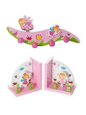 Wooden Fairy Coat Hook Bookends For Girls Nursery Bedroom Mousehouse