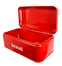 Bread Box Bin Storage Container For Loaves, Pastries & More Vintage Design, New
