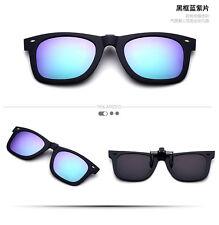 New Driving Polarized Mirrored Clip-on Fashion Glasses Flip-up Sunglasses UV400