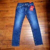 NWT True Religion Men's Jeans 103704 Rocco No Flap SN Skinny 32/32 32x32 Stretch
