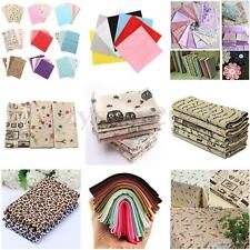 DIY Sewing Quilting Craft Patchwork Vintage Euro Style Cotton Linen Fabric Cloth