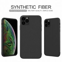 For iPhone 12 11 Pro XS Max XR 100% Genuine NILLKIN Carbon Fiber Slim Case Cover