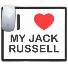 I Love Corazón Mi Jack Russell - Fino Pictoral Plástico Ratón Almohadilla Tapete