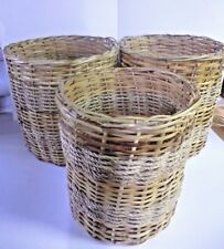 "SET OF 3 LAUNDRY BASKETS, 2 SIZES,   15.5"" X 15"", 13.5"" X 13"", SMALL DAMAGE"
