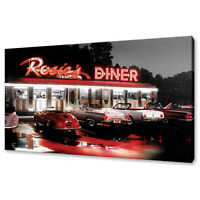 Rosie's Diner retro canvas picture print wall art fast free UK delivery