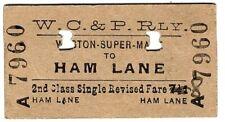 More details for railway ticket: weston clevedon & portishead: to am lane - edmondson card