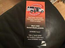 Kramer Shuttle EXTREME tours Leaflet and transport 2018. Los Angeles Hollywood