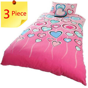 Lipstick Madeline Single Bed Quilt Cover Set + 1 x Novelty Cushion. 3 Piece