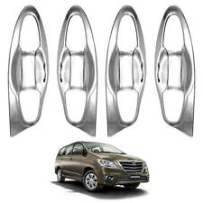 2016 17 + Doors Handle Bowl Inner Cover Chrome Trim Fits Toyota Innova Crysta