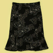 Viscose Floral Plus Size Flippy, Full Skirts for Women