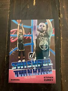 2018-19 Donruss Basketball Swishful Thinking #9 Stephen Curry Black True 1/1