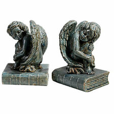 "Ceramic Angel Cherub Bookend 6""x5""x8.2"" Pair - 69160"