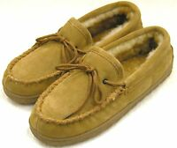 NEW Mens Sheepskin Moccasins Slipper Shoe House Bottie Medium (M,D)