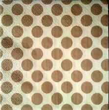 20 Vintage Mesa Servilletas de Papel (33 x33 Cm) Para Fiesta O Decoupage beige puntos