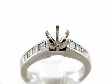0.81 CT Natural diamond lady's semi mount ring/setting only VS1/G 14K white gold