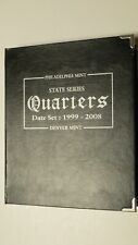 State Quarters Collector's Book 1999 - 2008 & Partial Collection 72 Coins