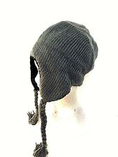 Ladies peruvian style knitted trapper hat