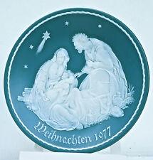 Die Heilige Familie, Weihnachten 1977, Villeroy & Boch-Teller, limitiert, Ø 29cm