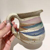 Klickitat Pottery Creamer Handmade in USA Multi Color Glazed Hand Made Ceramic