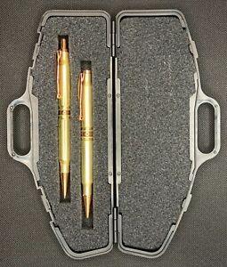 .308 Caliber Bullet Pen & Pencil Set, Handmade With 2-308 Brass Bullets,Free S&H