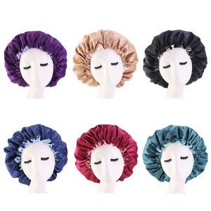 Satin Night Cap Sleep Hat Women Hair Loss Cover Chemo Head Wrap Beanie Adjust
