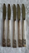 Oneida Coronation Set 5  knives Community Silverplate Flatware