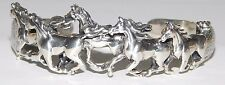 Authentic Kabana Galloping Horses Sterling Silver Cuff Bracelet