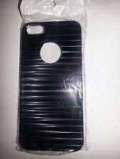 METAL HARD BACKING CASE (BLACK) FOR APPLE iPhone 5