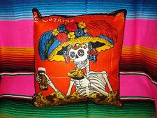 Catrina Sugar Skull Day of the Dead Sugar Skulls Pillow