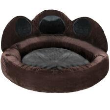 Niche panier pour chien chat coussin lit design en forme de patte marron noir