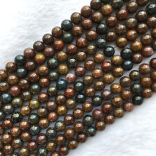 High Quality Natural Genuine Red Brown Blue Pietersite Stone Round Loose Beads